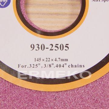 Disc pentru ascutit lant 145x22x4,7mm