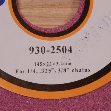 Disc pentru ascutit lant 145x22x3,2mm
