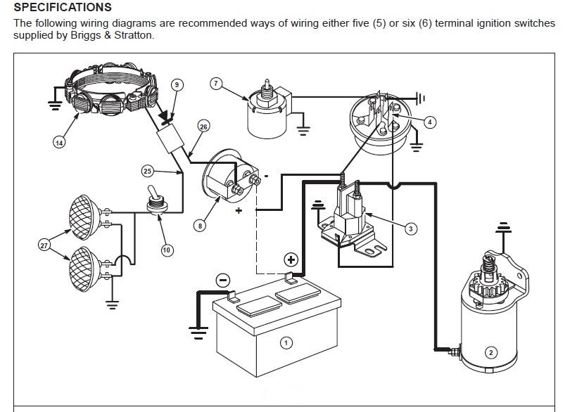 wiring diagram briggs and stratton 330000 briggs and stratton magneto system wiring diagram