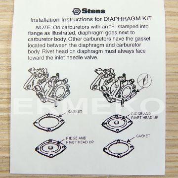 Kit reparatie carburatoare TECUMSEH H, LAV, V, VH, 22-35, HS40, 638, 650, 670